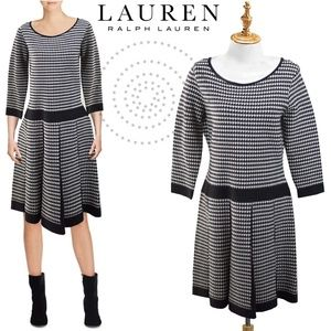 Lauren Ralph Lauren Hoods-tooth Sweater Dress L
